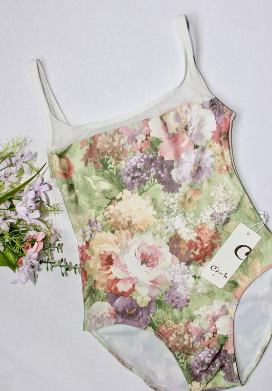 Class In Spring Floral Leotard