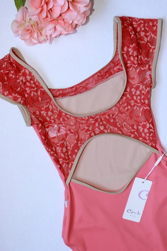 Class In Floral Lace Leotard