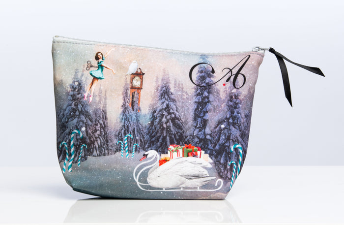 Ainsliewear Holiday Edition Makeup Bag with Nutcracker Print