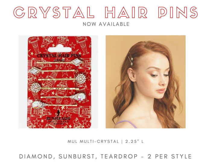 Capezio Crystal Hair Pins - Limited Edition!
