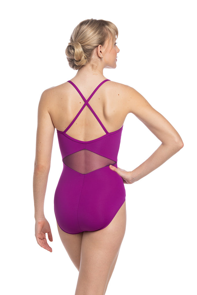 Ainsliewear Magenta Aileen Leotard with Mesh - Limited Edition