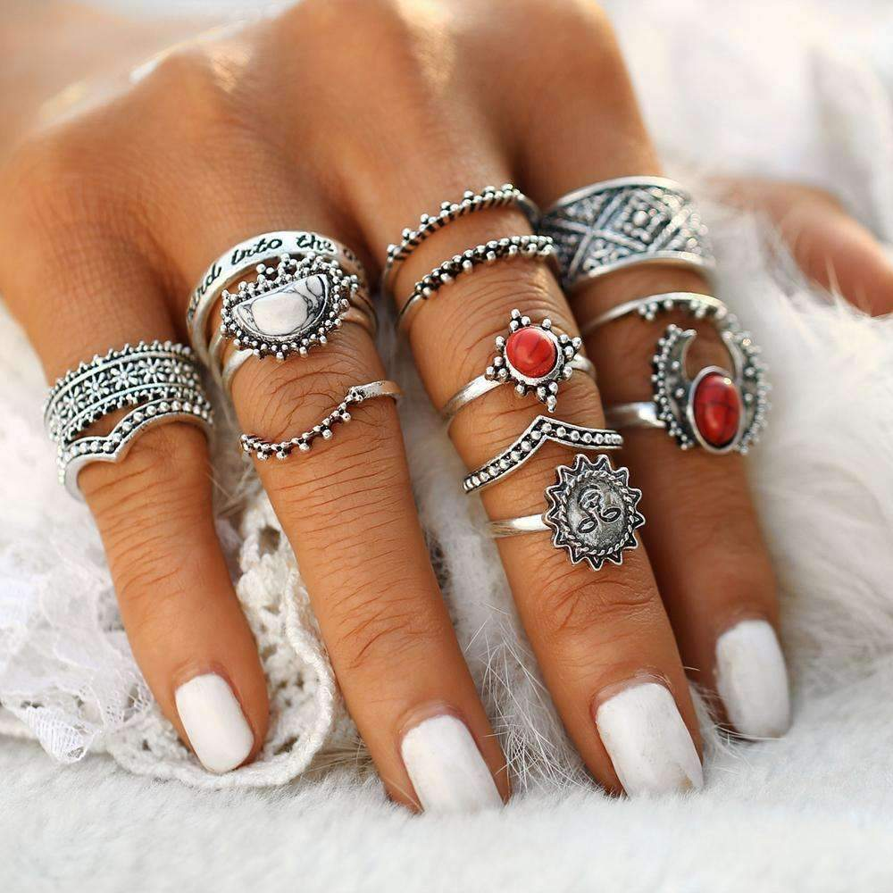 TribeLuxe:Bohemian Ring Set