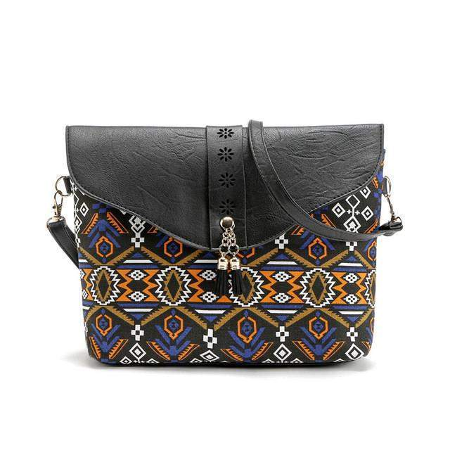 Bahama Boho Crossbody - Black | - TribeLuxe