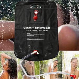 Solar Energy Heated Camping Shower Kit