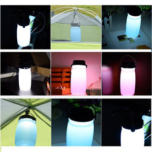 Solar LED Water Bottle Lantern