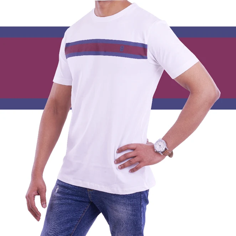 a71b8e935c White Single Stripe T Shirt. NEW ARRIVAL
