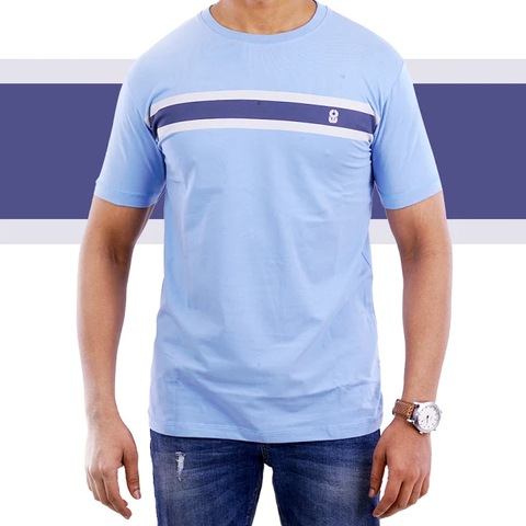Sky Blue Single Stripe T-shirt