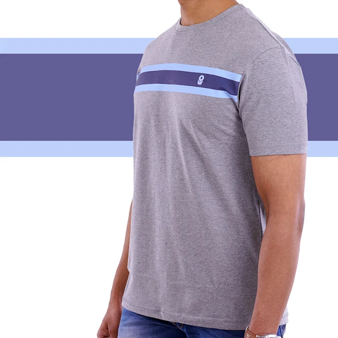Charcoal Grey Single Stripe T-shirt