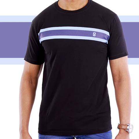 Black Single Stripe T-Shirt