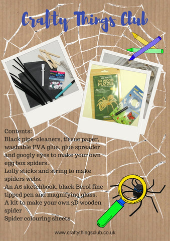 Spiders Crafty Things Club box