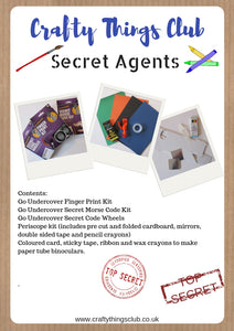 Secret Agents Crafty Things Club