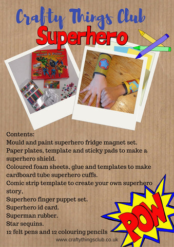 Superheroes Crafty Things Club