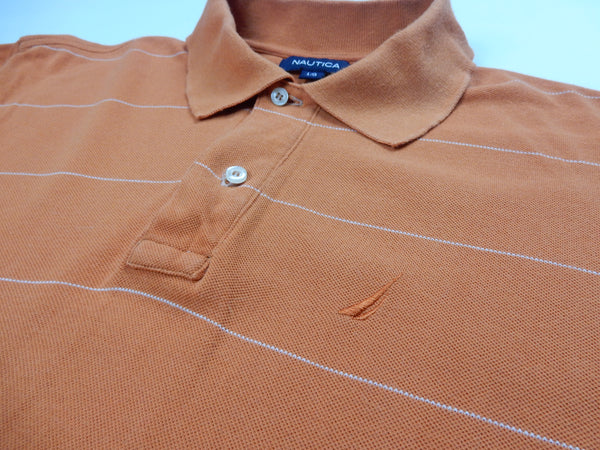 Orange Nautica polo shirt S/M