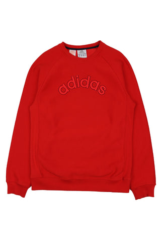 Red Adidas spellout sweatshirt S