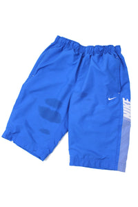 Blue Nike swim shorts S