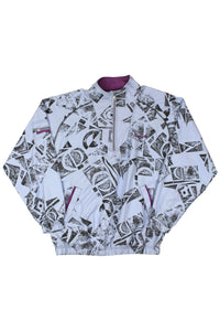Orange Helly Hansen zip up fleece L