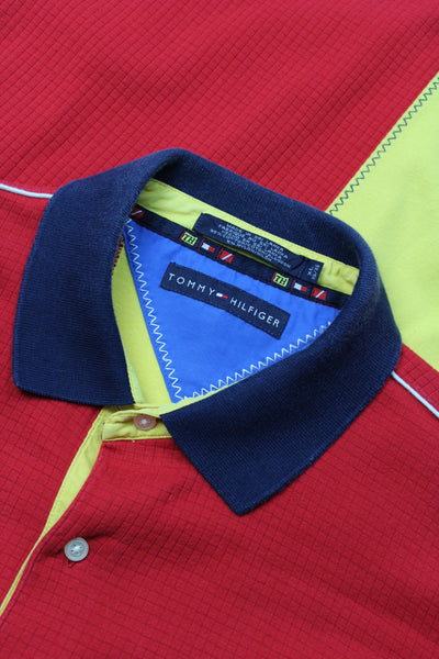 Tommy Hilfiger colour block polo shirt XL