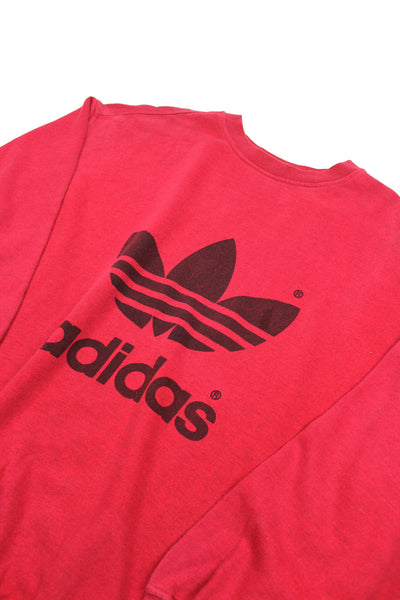 Red Adidas trefoil sweatshirt XL/XXL