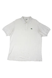 White Lacoste polo shirt L