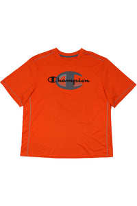 Orange Champion spellout t shirt XL