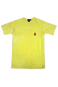 Yellow Ralph Lauren crest t shirt S/M