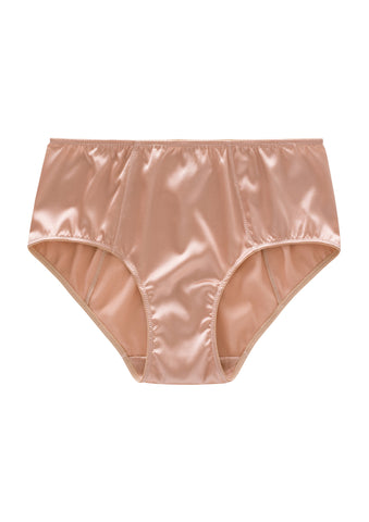 ** Ultra Comfy **  Weekend Mid-Waist Silk Briefs (1801) - SILK underwear , French lace, silk g string, silk knickers, French lingerie