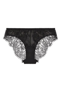 **Pre-Order** 100% Silk Stretch Tulle with French Chantilly lace brief 1903 - SILK underwear