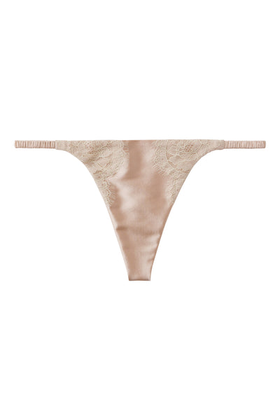 ** Ultimate luxury ** Silk G-String with Chantilly lace 1702 - Sandra Silk Australia