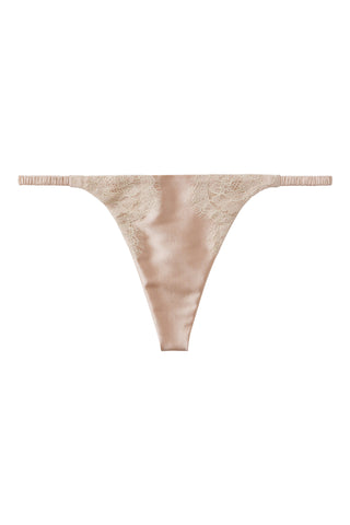 Silk G-String with Chantilly lace 1702 - SILK underwear