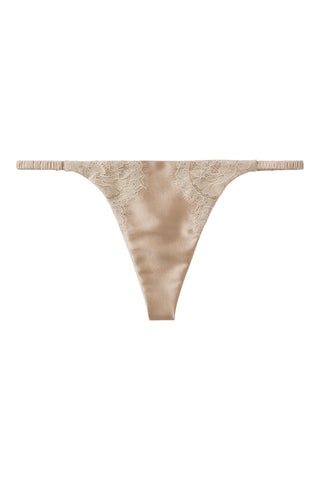 ** Ultimate luxury **     Silk G-String with Chantilly lace 1703 - SILK underwear , French lace, silk g string, silk knickers, French lingerie