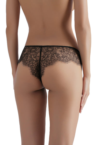 ** Lover's pick ** Sandra Silk Signature French Chantilly lace and stretch-silk satin briefs 1719 - SILK underwear , French lace, silk g string, silk knickers, French lingerie