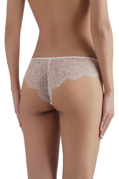 ** Lover's Pick ** Sandra Silk Signature French Chantilly lace and stretch-silk satin briefs 1718 - SILK underwear , French lace, silk g string, silk knickers, French lingerie