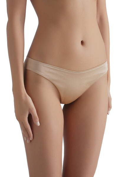 ** perfect nude effect underneath clothing ** Everyday Silk thong 1713 - Sandra Silk Australia