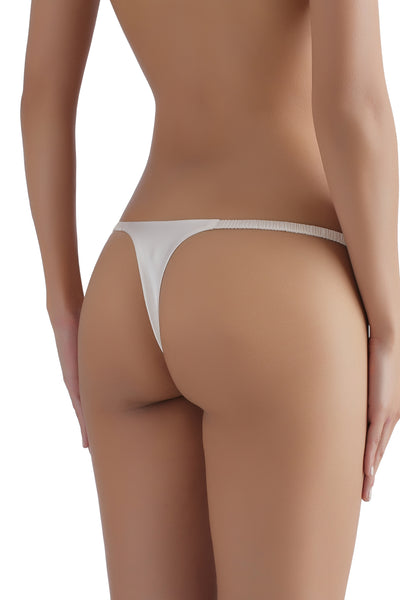 ** Back in stock ** Everyday Silk G-String 1717 - SILK underwear , French lace, silk g string, silk knickers, French lingerie