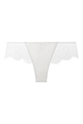 Sandra Silk Signature French Chantilly lace and stretch-silk satin briefs 1708 - SILK underwear