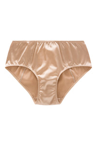 ** Ultra Comfy ** Weekend Mid-Waist Silk Briefs (1801N) - SILK underwear , French lace, silk g string, silk knickers, French lingerie