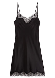 Bias Cut, Silk and French lace trim slip dress 6001 - Sandra Silk Australia
