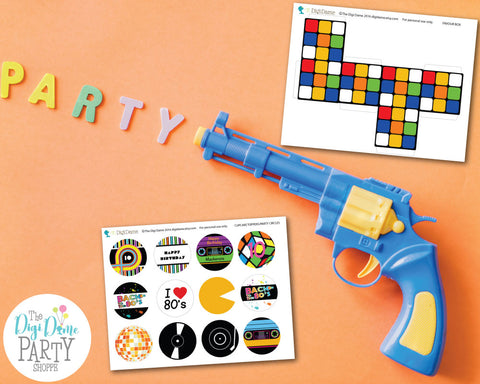 free party printables 80's party