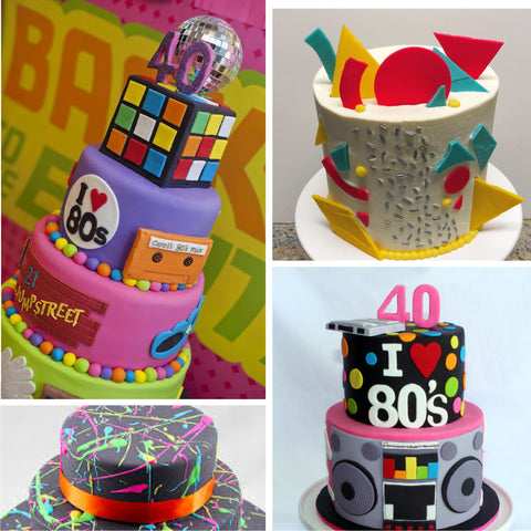 80's party cakes