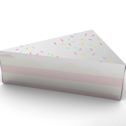 free download printable cake slice party favor box