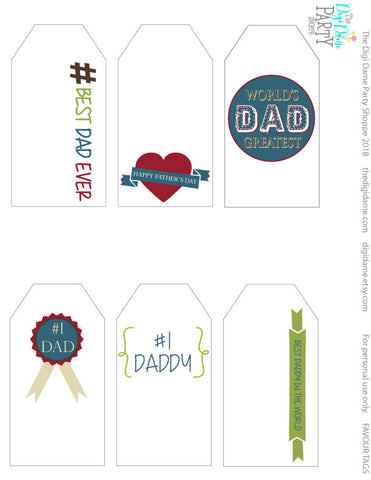 free printable gift tags father's day
