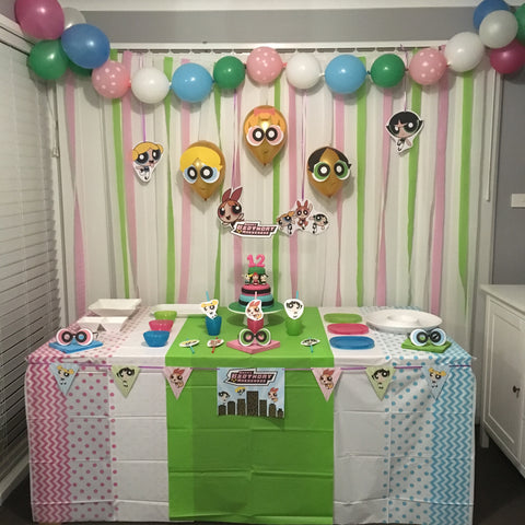 powerpuff girls party decor