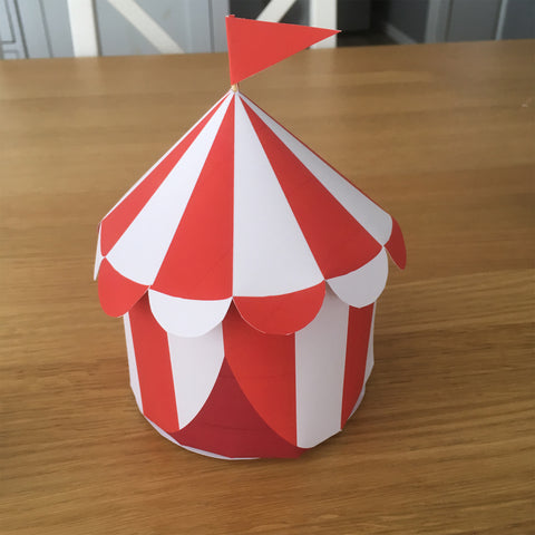 printable circus big top tent party decoration