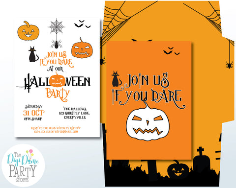 halloween party printable invitations online