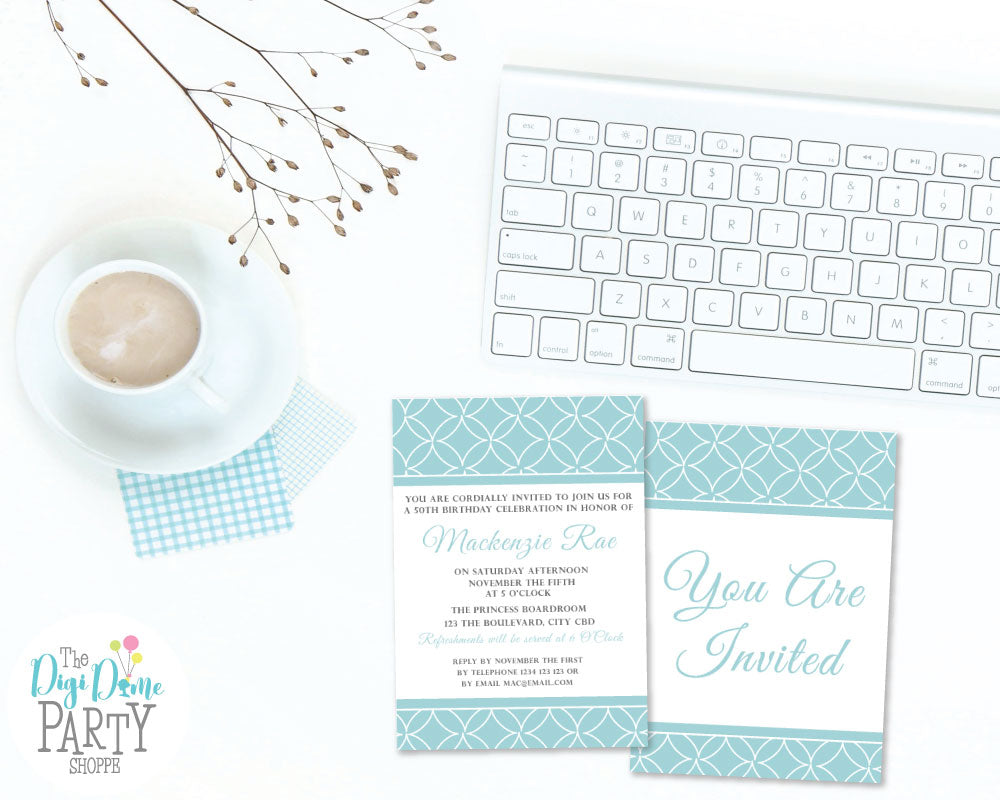 free party printable invitation