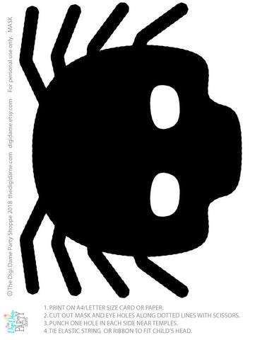 free spider face mask halloween