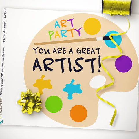 art party printable decorations