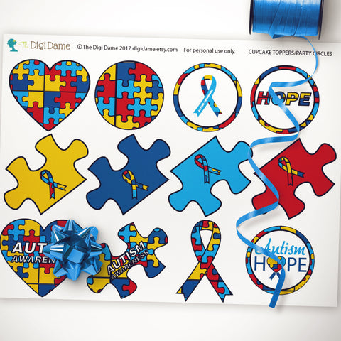 autism fundraising event printable decorations