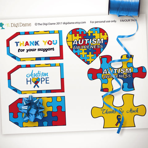 autism party printables invitations decorations