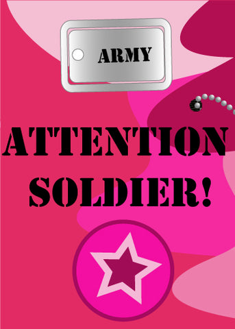 printable girls army party invitation pink camo